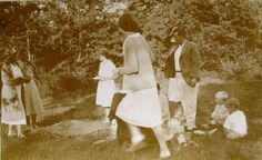 Vintage Photograph  A Summer Picnic by LoosLoft on Etsy, $3.50