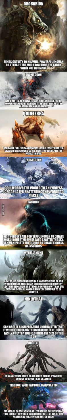 draw creatures I think the descriptions are kinda dumb but the photos are really cool - More memes, funny videos and pics on Mythological Creatures, Mythical Creatures, Fantasy World, Dark Fantasy, Dnd Monsters, Monster Art, Monster Hunter, Creature Concept, Dragon Art