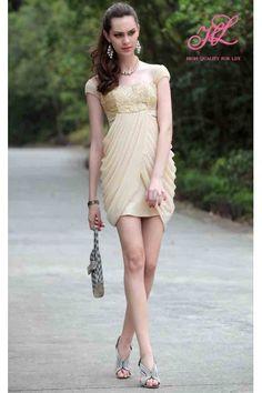 knee length Sweetheart Yellow Lining A-line  http://bit.ly/MfJhTg