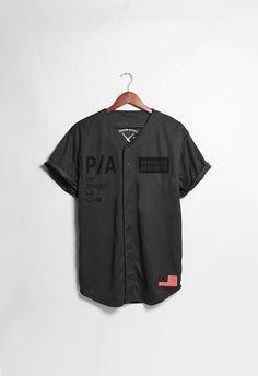Black Box Light Mesh Baseball Jersey in Black | Profound Aesthetic