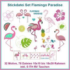 Flamingo Paradise Stickdatei Set