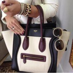Dream Closet: Celine Phantom Bag in Burgundy/White/Black/Cream
