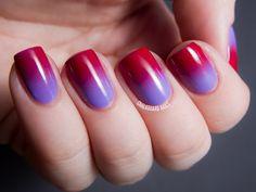 gradient nails #nailart