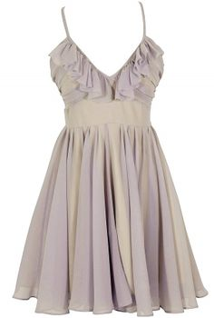 Lavender Ruffle Chiffon Dress by Ark and Co