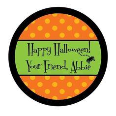 Etsy Halloween Labels
