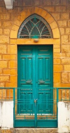 Beirut turquoise doors ~ Lebanon