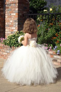 Handcrafted tulle tutu skirt for your flowergirl or fairytale princess with unique design that makes it a snap to dress up any outfit. on Etsy, $55.00