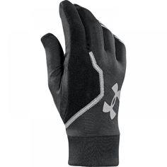 Pánské černé běžecké rukavice Under Armour s reflexními prvky