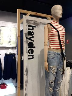 "TOPSHOP ""denim graphic update'at Melbourne,Australia by Josh Karstrom, pinned by Ton van der Veer"