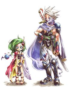 Final Fantasy IV - Young Rydia and Edge