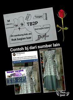 Dress Muslim Modern, Kebaya, Dan, Sewing Projects, Women's Fashion, Molde, Fashion Women, Womens Fashion