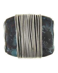 Patina & Burnished Silver Tone / Lead&nickel Compliant / Metal / Stretch / Ring