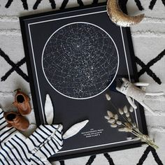 Choose a date, time and place that is unique to you and create your map of the Stars! A great way to personalize your home! Beautiful photo by ❤️ ! Sky Nursery, Star Chart, Night Skies, Create Yourself, Rooms, In This Moment, The Originals, Stars, Unique