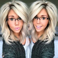 Best 11 Why yes; today calls for glasses, the easiest lazy-day look💕, leftover slept on hair, and relaxation. That's what Saturdays are for,… Love Hair, Great Hair, Big Hair, Gorgeous Hair, Big Blonde Hair, Beautiful, Medium Hair Styles, Short Hair Styles, Pin On