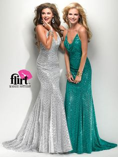Size 0 Teal In StockA stunner, this spectacular evening dress is a dazzling number. This fully sequined Maggie Sottero Flirt prom dress P7782 displays a cowl neckline, fitted silhouette, and criss cross back. Completing this look is a floor length slim skirt with long train. This prom dress comes in these colors: teal, black, silver and red. Be the shining star that leads the crowd to the dance floor in this sequin evening dress. Finish this gown with sparkly earrings and matching bracelet…