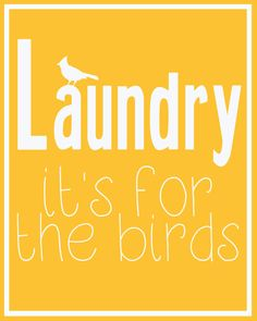 Cute printable for your laundry room!