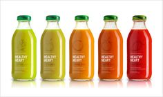 Healthy Heart Juice packaging design 20 Cool & Creative Food Packaging Design Assemblage For Inspiration