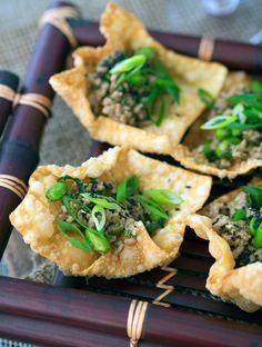 Crispy Wonton Dumplings, easy Japanese canape