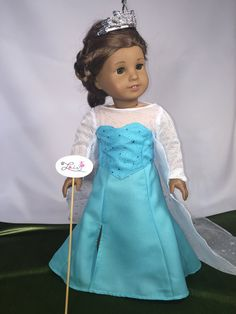 AG Handmade Clothes Frozen Elsa Queen Dress With by Loisdesigns