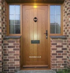 oak door swept head side windows