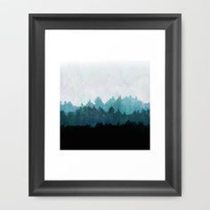 Woods Abstract  Framed Art Print by Mareike Böhmer Graphics
