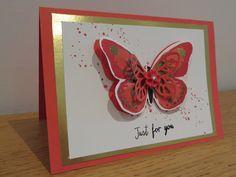 CraftyCarolineCreates: Golden Watercolor Wings Greetings Card, Stampin' Up UK, Watercolour Wings