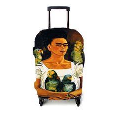 Frida Kahlo Self Portrait 2 Luggage Cover – Etsyenvy Luggage Cover, Suitcase, Self, Purses, Portrait, Pattern, Frida Kahlo, Handbags, Headshot Photography