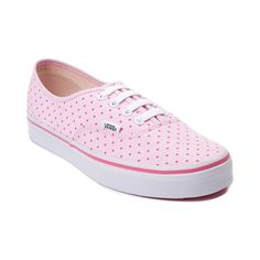 Shop for Vans Authentic Dots Skate Shoe in Pink Red Dots at Journeys Shoes. Shop today for the hottest brands in mens shoes and womens shoes at Journeys.com.The Authentic from Vans is always in style. Comin to you featuring a pink polka dot print canvas upper, lace closure, and vulcanized rubber sole with waffle tread.
