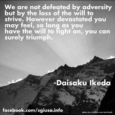 Daisaku Ikeda. | #sgi #buddhism