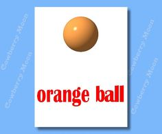 "Teach Baby Book ""orange ball"" Page-Small Book,Homeschool Book Orange ball Page,Learn To Read Orange ball Page,Home School by CowberryMoon on Etsy"