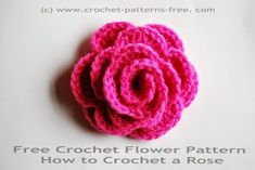 Free Crochet Patterns and Designs by LisaAuch: Free Crochet Flower Pattern How to crochet a rose