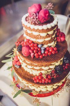 Fabulous naked cake | Photo by Chris Spira Photography via http://junebugweddings.com/wedding-blog/romantic-austrian-wedding-wilder-kaiser/