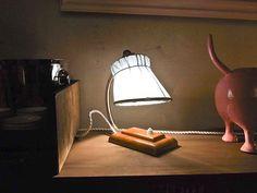 4  Tischlampen mit pastellfarbenen Lampenschirmen.  Höhe:  ca. 20 cm