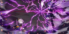 Anime Fantasy, Dark Fantasy Art, Elemental Magic, Anime Wolf Girl, Girls Frontline, Character Design Inspiration, Otaku Anime, Game Art, Artwork