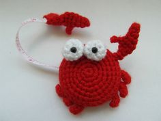 Ravelry: Crab tape measure cover pattern by Justyna Kacprzak