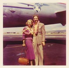 1950's  Monica Lewis & Danny Kaye on their way to Korea to see the troops--monica lewis's