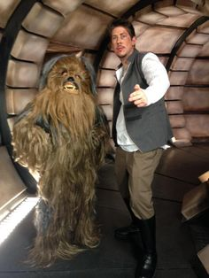 Ross for scale. <<< Even tho Kim is supposed to be a Wookie... but next to Ross she's more like a Ewok lol