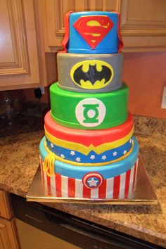 Captain America bottom tier, then Wonder Woman,The green Lantern, Batman and finally Superman.... :)
