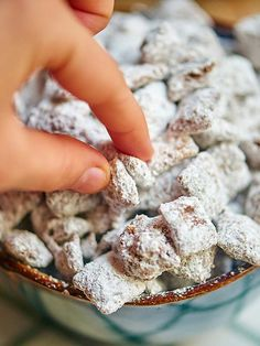 Hands down the BEST muddy buddies/puppy chow recipe I've ever had. She absolutely gets that title. The ratios are fabulous and the results are addicting. Also, the recipe is ridiculously easy. Make it (How To Make Butter Sugar) Best Puppy Chow Recipe, Puppy Chow Recipes, Chex Mix Recipes, Cereal Recipes, Yummy Treats, Sweet Treats, Best Puppies, Christmas Baking, Christmas Candy