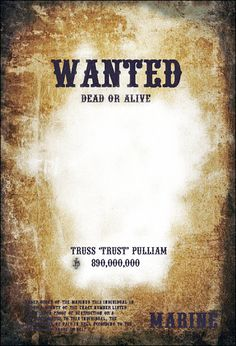Download free FBI and Old West Wanted Poster Templates for W ...