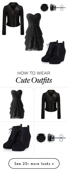 """""""CUTE BLACKNESS"""" by rorydawn on Polyvore featuring BERRICLE, women's clothing, women, female, woman, misses and juniors"""