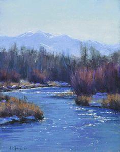 Riverbend by Joseph Mancuso Pastel ~ 14 x 11