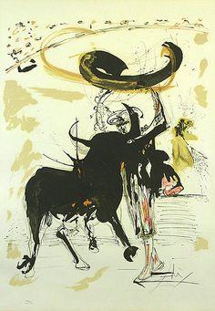 Salvador Dali, Bullfight #2