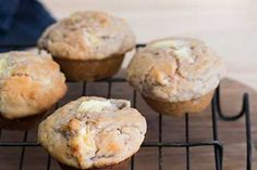 Feijoa and Cream Cheese Muffins Ingredients 1 cup feijoa, flesh ½ cup caster sugar 75 g butter, melted 2 eggs, lightly beaten ½ cup sour cream 1 orange, grated zest and juice (or use 1 lemon) 2 cups flour 2 tsp baking powder ½ tsp cinnamon 125 g cream cheese, cut in cubes Directions Heat ...