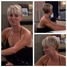 Kaley Cuoco hair in the s8 ep5 of the big bang theory! Love it <3