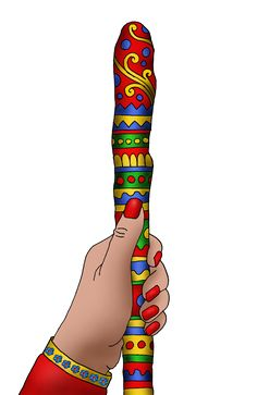 Talking Stick Illustration by Viveca Lammers