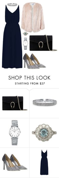 """STYLE SUNDAY//CHRISTMAS PARTY"" by itsfeeslife on Polyvore featuring Gucci, Bling Jewelry, Longines, Jimmy Choo, Zimmermann and Sans Souci"