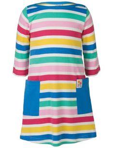 Frugi Girls Hotch Potch Tunic Dress, Candy Stripe - £25.99 - A great range of Frugi Girls Hotch Potch Tunic Dress Candy Stripe - FREE Delivery over £25!