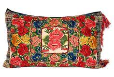 "Guatemalan Embroidered  Pillow  ACAPILLOW 23""L x 15""W OneKingsLane.com ($335.00)  $225.00"