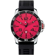 Pre-owned Tommy Hilfiger Silicone Mens Watch 1790848 ($71) found on Polyvore featuring jewelry, watches, silicon watches, preowned watches, tommy hilfiger, silicone jewelry and tommy hilfiger jewelry